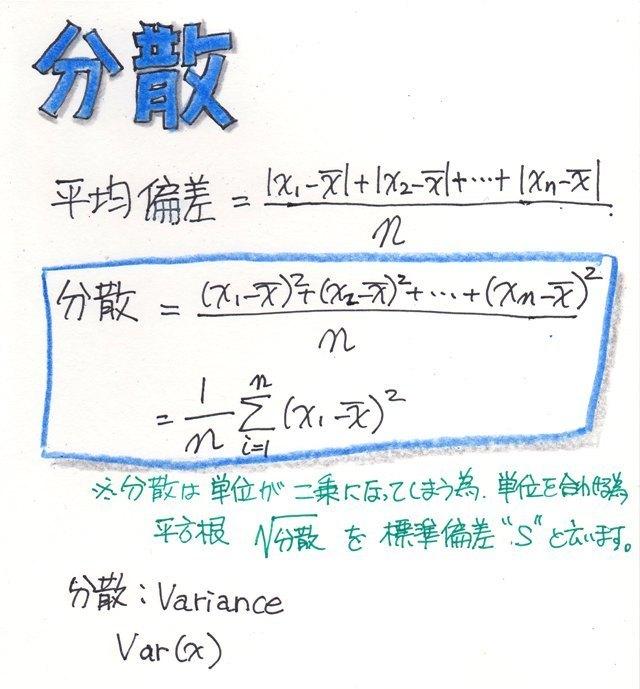 データの変動と分散についてまとめてみた /データ分析の解説: haku1569 ...